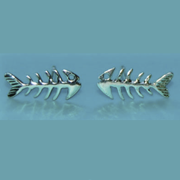 silver fishbone earrings memento, a wish for you