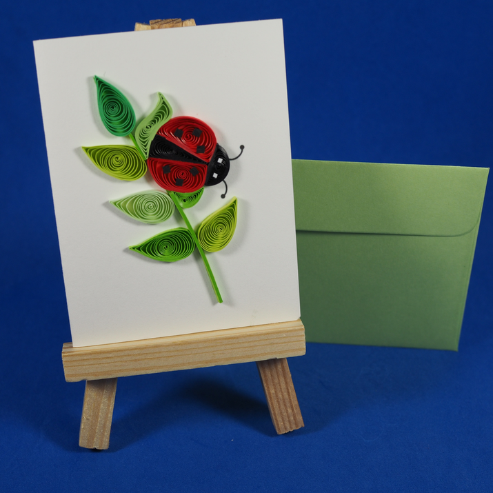 Ladybug card, a wish for you, wish package