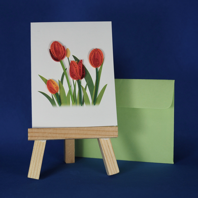 tulip card, a wish for you