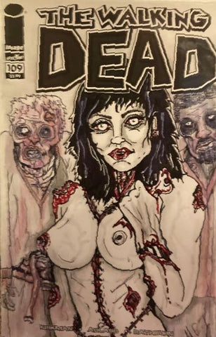 Walking Dead #109 - 100% Unique Artist Sketch Cover