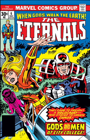 The Eternals Vol.1 #6 (markings on cover)