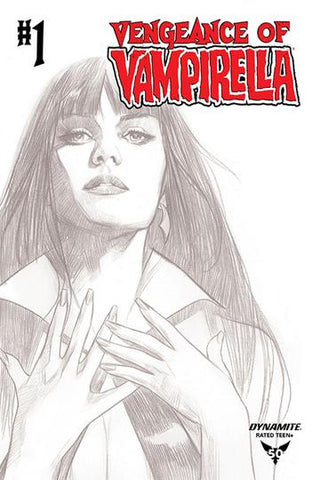 Vengeance Of Vampirella Vol.2 #1 - B&W Cover by Ben Oliver