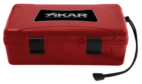 mycigarorder.com XIKAR 10 Cigar Travel Humidor Red Case - Boveda Pack Model - 210RDXI