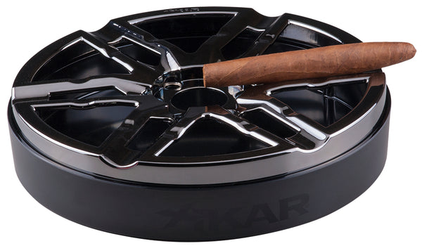 mycigarorder.com XIKAR Burnout Gunmetal Cigar Ashtray - 429BG2 MCO