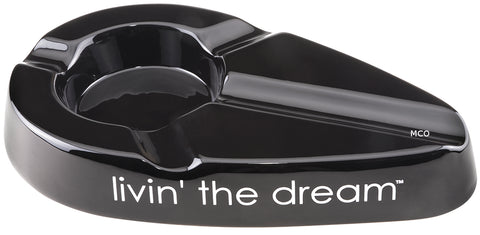 mycigarorder.com Xikar Livin' The Dream Cigar Ergonomic Black Ashtray New Gift Boxed 428LBK MCO