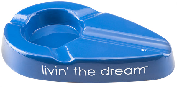 mycigarorder.com Xikar Livin' The Dream Cigar Ergonomic Blue Ashtray New Gift Boxed 428LBL MCO