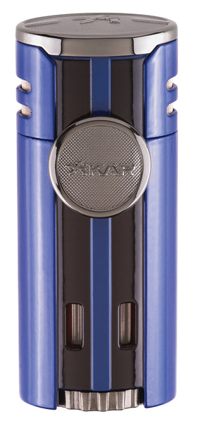 mycigarorder.com Xikar HP4 Blue Quad Angled Jet Flame Cigar Lighter - New Gift Boxed 574BL MCO