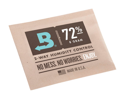 Boveda 72% RH 8 gram Humidipak - 8 Pack - 2 way Humidity Control (8x8g)