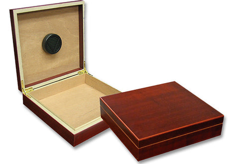 mycigarorder.com Prestige Chateau Cigar Humidor - Cherry - 20 Cigar Capacity - Desk or Travel