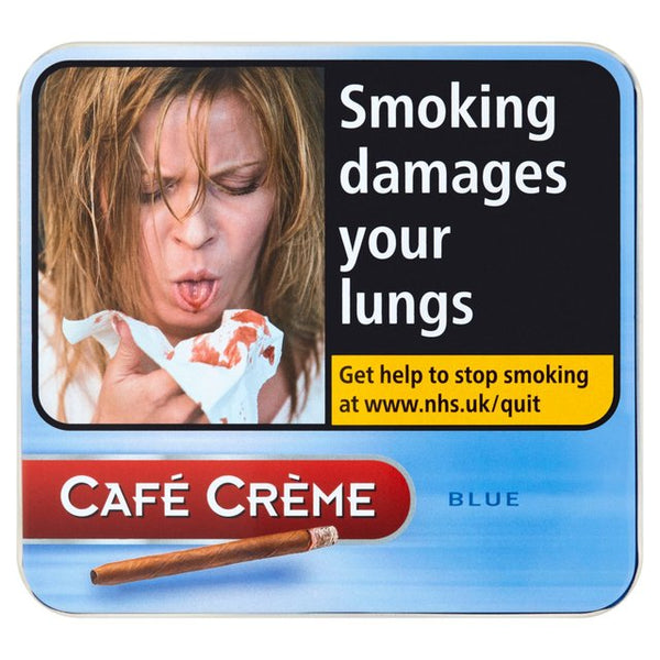 mycigarorder.com Henri Wintermans Cafe Creme Blue Tin of 10 Cigarillos - Single Tin