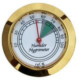 mycigarorder.com  Prestige Analogue Cigar Hygrometer - Round - Brass Colour Finish
