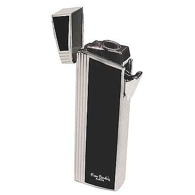 Pierre Cardin Cigar Single Jet Lighter - Silver and Black Lacquer - MFH-247B
