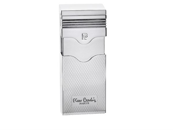 mycigarorder.com uk  Pierre Cardin The Viscount Jet Lighter - Chrome Diamond Pattern - MFH-344B-03