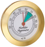 mycigarorder.com Prestige Import Group HYB134 Hygrometer with Brass Frame and Glass Face, 1-3/4-Inch