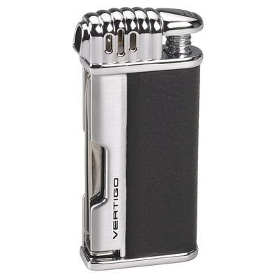 mycigarorder.com Vertigo Lotus Puffer Pipe Lighter Black - Horizontal Flame and Pipe Tools