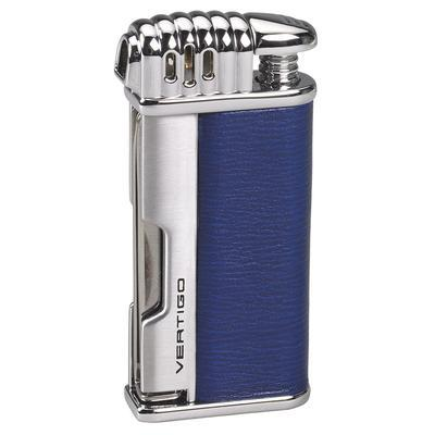 mycigarorder.com Vertigo Lotus Puffer Pipe Lighter Blue - Horizontal Flame and Pipe Tools