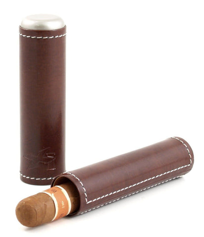mycigarorder.com XIKAR Envoy Cigar Case - Single - Cognac - 241CN