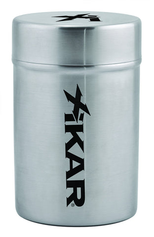 XIKAR Portable Ashtray Can (New Model) – Silver - 424AC