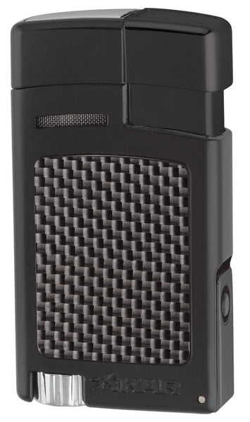 mycigarorder.com XIKAR Forte - Single Jet Cigar Lighter - Black Carbon Fiber - 523BKCF