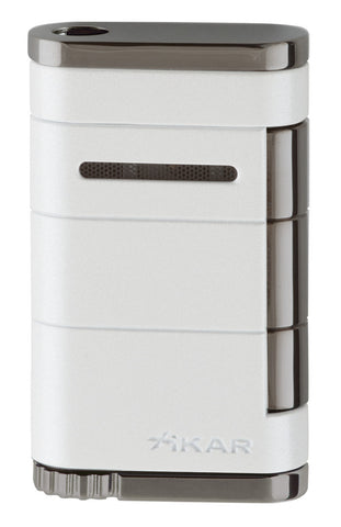 mycigarorder.com XIKAR Allume Single Jet Lighter - White - 531WH