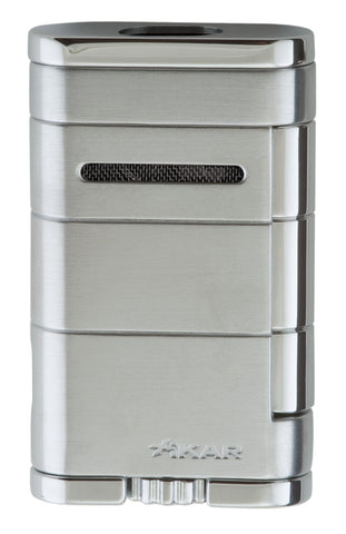 mycigarorder.com XIKAR Allume Double Torch Cigar Lighter - Silver - 533SL
