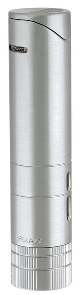 mycigarorder.com XIKAR Turrim 5x64 Double Torch Cigar Lighter - Silver - 564SL