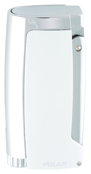 mycigarorder.com XIKAR Pulsar Triple Torch Cigar Lighter with punch - Pearl White - 567WH