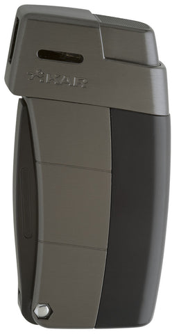 mycigarorder.com XIKAR Resource Pipe Lighter II - Black & Gunmetal (G2) - Soft Flame - 585BKG2