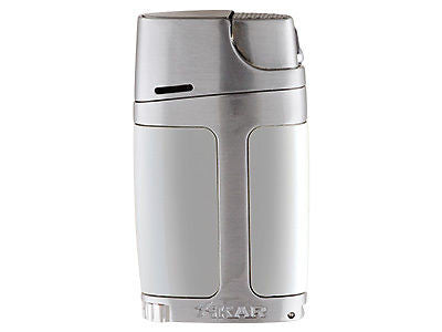 mycigarorder.com XIKAR ELX Double Jet Lighter - Chrome and Silver - 550CS