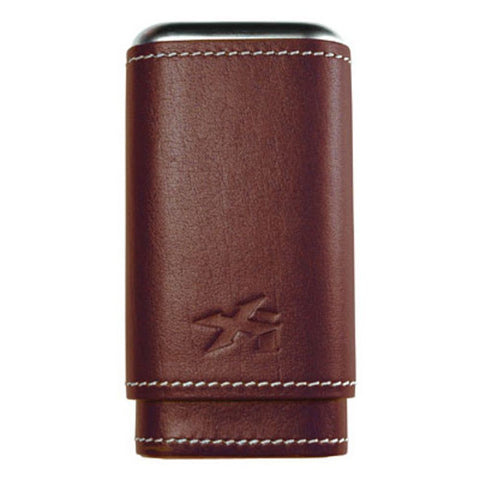 XIKAR Envoy Leather Cigar Case - Triple - Cognac - 243CN