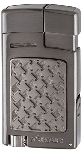 mycigarorder.com XIKAR Forte - Single Soft Flame Cigar Lighter - Gunmetal Houndstooth - 524G2H