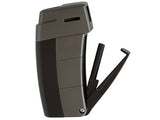 mycigarorder.com XIKAR Resource Pipe Lighter II - Black & Gunmetal (G2) - Soft Flame - 585BKG2 - my cigar order b