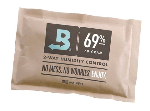 Boveda 69 Percent RH Individually Over Wrapped 2-Way Humidity Control Pack, 60g B69-60-OWB (FREE SHIPPING)