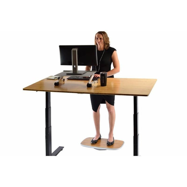 Uncaged Ergonomics BASE+ Active Desk Balance Board Bamboo Top