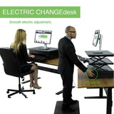 Uncaged Ergonomics Electric CHANGEdesk Standing Desk Conversion Smooth Adjustment