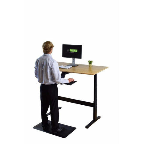 Uncaged Ergonomics Rise Up Electric Adjustable Standing Desk Bamboo