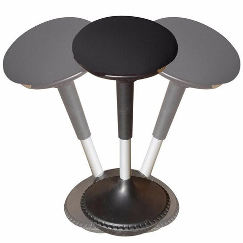Uncaged Ergonomics Wobble Stool Adjustable Height Active Chair Black