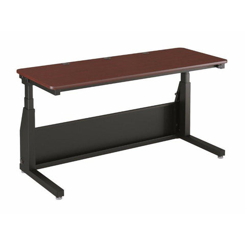 Versa Tables Edison Electric Standing Table Cherry Surface