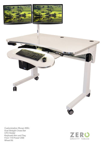 Versa Tables Sit to Stand Desk with Keyboard Tray Main