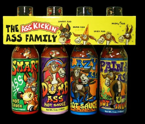 Ass Kickin  Hotsauce  Family 4 pk
