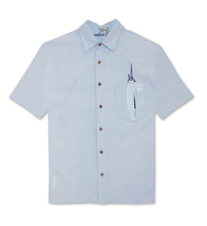 Bamboo Cay Lt Blue with Marlin Embroidered in Pocket