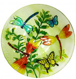 Hand Painted Decorative Bowl with Dragon Flies