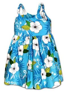 Girls Aloha Sundress  with Hibiscus flower