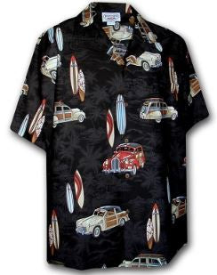 Woodies and Surfboards Short Sleeve Shirt