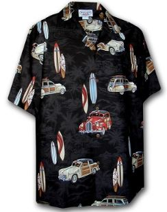 Car Themed Shirts, Woodies and Surfboards