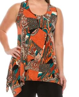 Jostar Hit Print Side Tank Tunic