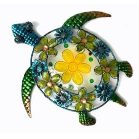 Acrylic, Glass, and Metal Sea Turtle Wall Decor