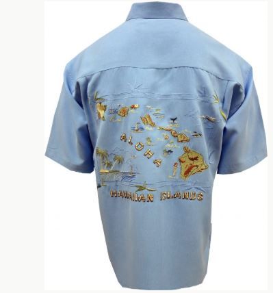 Bamboo Cay Hawaiian Islands Mens Shirt