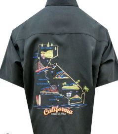 Bamboo Cay California Fun and Sun Shirt- Black