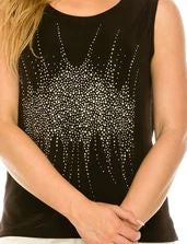 Jostar Sleeveless tank with Rhinestones